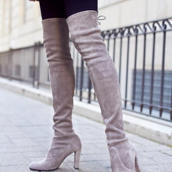 Grey Stuart Weitzman Highland Boots